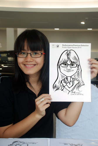Caricature live sketching for Performance Premium Selection BMW - Day 4 - 3