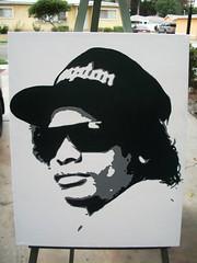 Eazy E Stencil Graffiti