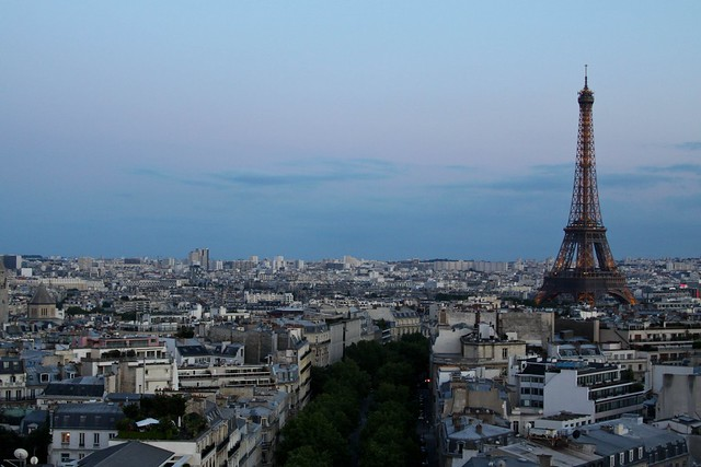 Skyline from the Arc de Triomphe