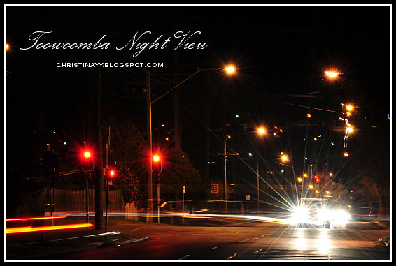 Toowoomba Night View: Stenner St.