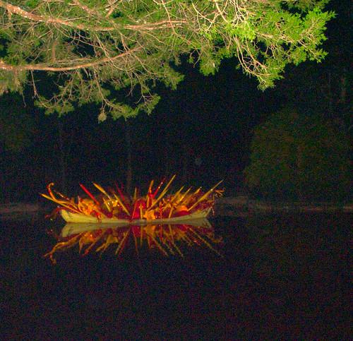 Chihuly Boat at Cheekwood, Night View