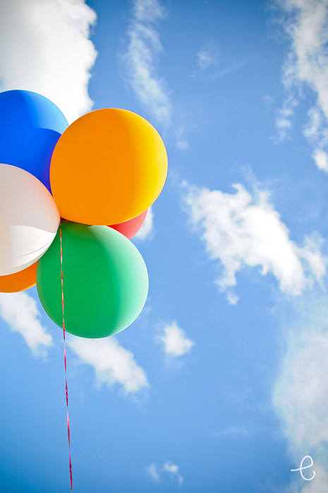 it's all about the angle: balloons