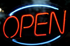 OPEN (matthileo) Tags: open sign neon scott kelby wolrdwide photo walk photowalk scottkelbyworldwidephotowalk 2010 potter park zoo potterparkzoo lansing michigan icks flickr