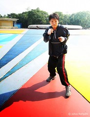Boxer, training for 1st professional fight (jmbagate) Tags: city circle photo memorial walk worldwide annual 3rd quezon