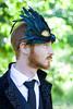Birdman (Dwam) Tags: paris green bird garden beard ginger mask feather redhead mrpan dwam
