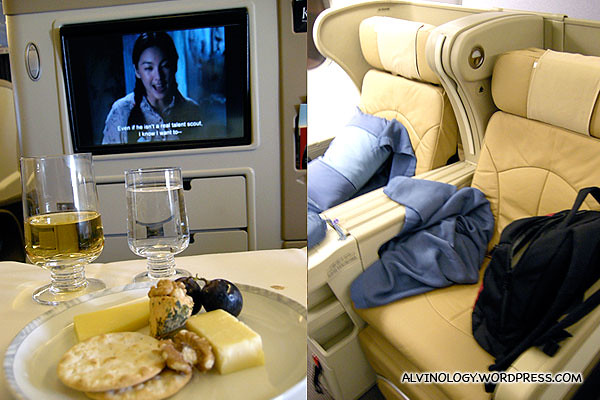 """I watched the Chinese movie,""""JUMP"""" (跳出去) - love the wide seat and display screen"""
