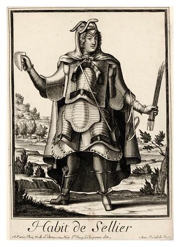 061-Vestimenta de talabartero-Les Costumes Grotesques 1695-N. Larmessin-BNF