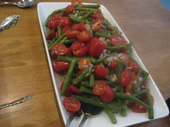 Greenbean and grape tomato salad