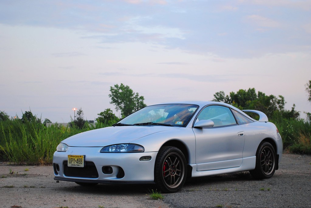 Quick Shoot (MattPallante) Tags: Sunset Sky Car Silver Eclipse Automobile Wheels  Rims Mitsubishi