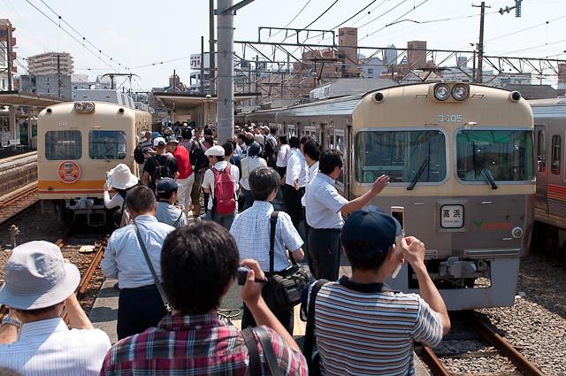 伊予鉄道さよなら800系電車イベント