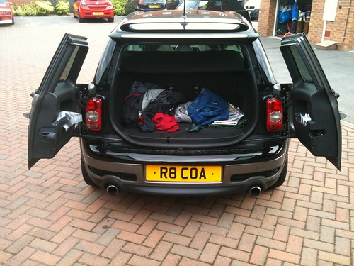 Mini Cooper Clubman Black. Mini Cooper S Clubman - Rear