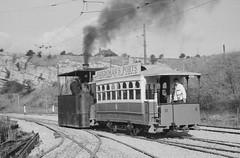 Crich 1966 John Bull steam Tram 1885 and No9 (John Neave) Tags: museum derbyshire tram tramway crich