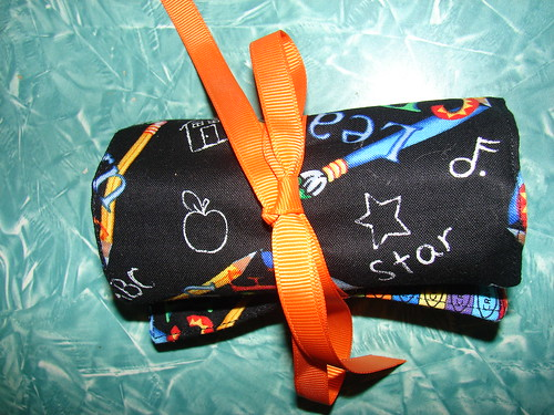 Library Bag and Crayon Roll 010