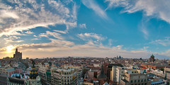 Oh, cielos! (wowned) Tags: madrid sky atardecer nikon cielo metropolis vistas azotea f28 cba panormica d300 crculodebellasartes nikkor105