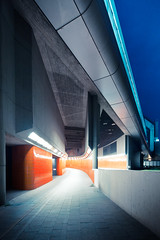 ICC Tunnel (96dpi) Tags: orange kacheln tunnel fair tiles pedestrians messe zentrum icc kongress unterführung tiltshift internationales congresszentrum 96dpi fusgänger alevers tse17