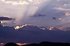 Rayos de sol entre las nubes (ibzsierra) Tags: sunset sky cloud sun mountain canon cel ibiza cielo 7d puestadesol eivissa montaa ocaso nube baleares digitalcameraclub nuvolat