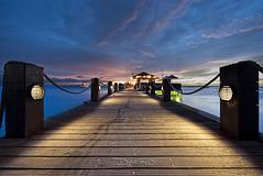 Aruba Sunset - Palm Beach Coast Hyatt Regency (DiGitALGoLD) Tags: ocean sunset sea sky beach night hotel coast pier nikon long exposure shot casino palm aruba hyatt caribbean nikkor f28 regency d3 papiamento 1424mm