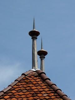 copper finials, gruyere