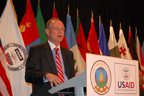 FFAS Under Secretary Jim Miller delivers a keynote address at the International Food and Development Conference.