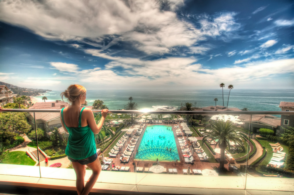 Brittany checking out the view of Laguna Beach.