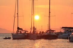 Sailboats at sunset (cdemetriadis) Tags: greece syvota summer2010