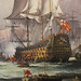 Detail of English King Charles II Receiving the Fleet After the Battle of Sole Bay 1672 by John Bentham-Dinsdale b 1927 (1)