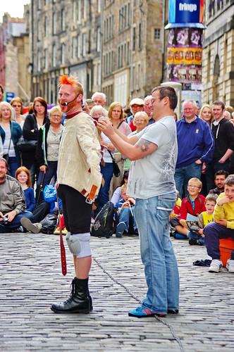 Edinburgh, Edimbourg, Scotland, The Fringe dans High street 10