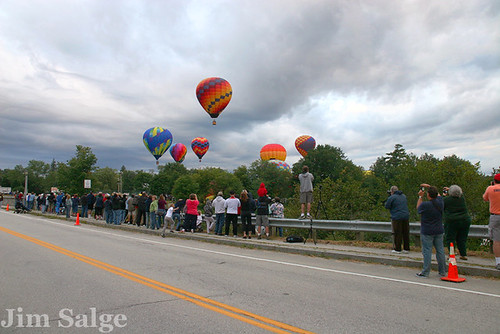 Crowd at Pittsfield Balloon Festival
