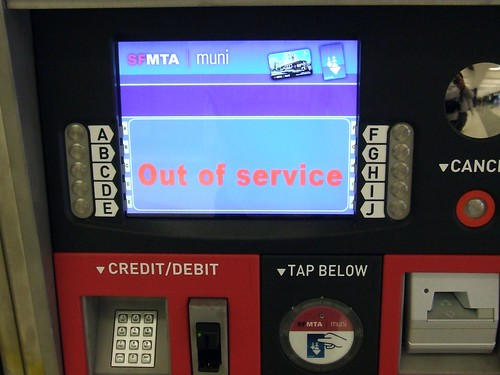 Muni Clipper Ticketing Machine - Powell Station Main Gates