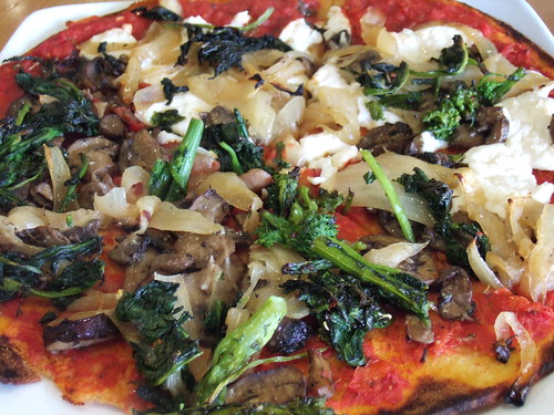 Pete's Apizza Gluten-free Vegan Pizza (half Teese, half zero cheese)