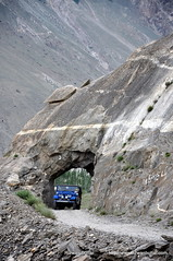On Askole Trek ! A Jeep Passes through a Mountain ! (rizwanbuttar) Tags: pakistan valley concordia karakoram rizwan askole braldu buttar shigar