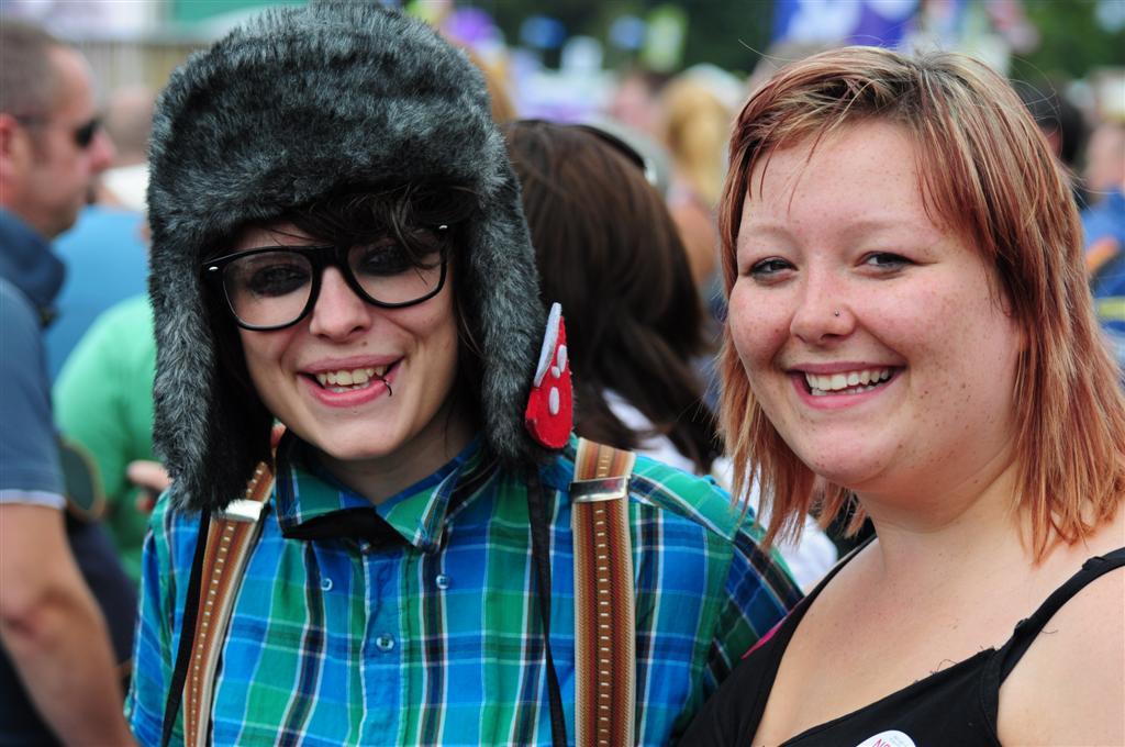 Shabby & Cally at brighton gay pride