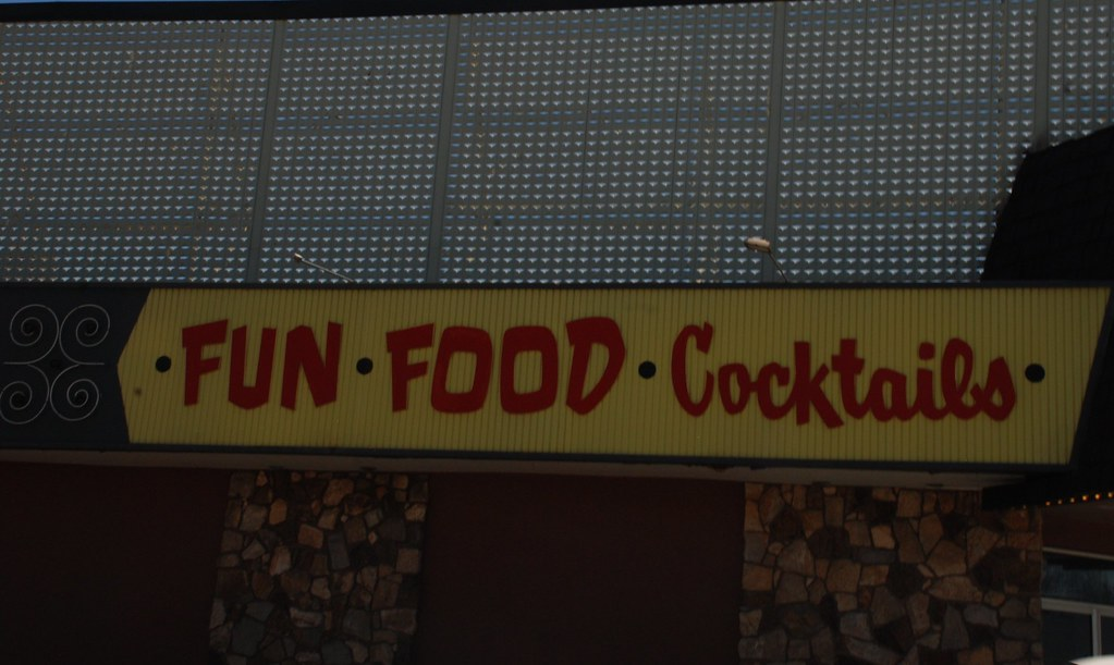 fun food cocktails (like the retro lettering)