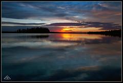 Sunset at Astotin Lake in Elk Island National Park (Artvet) Tags: