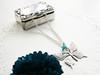 ♥C131♥ (♥adornoartesanato♥) Tags: flower vintage silver necklace handmade flor borboleta colar bijutaria buterfly jewerly prateado adornoartesanato