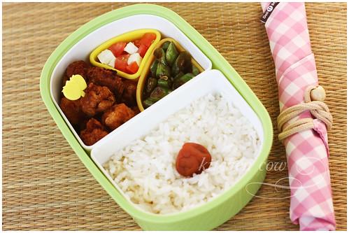 Chicken Popcorn Bento