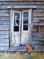 Shed with cockerel (Barry Tolfree) Tags: chicken barn shed ruin hen cockerel