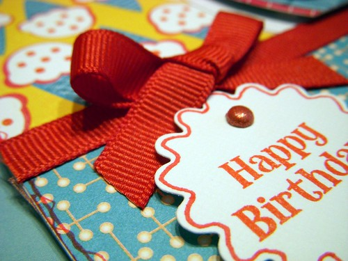 Happy Birthday Cherry Card Sentiment