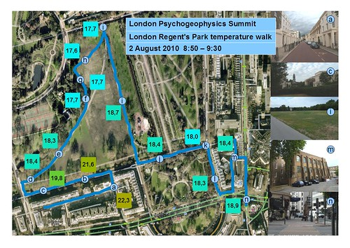 Psychogeophysics 2010 - Regent's Park temperature walk