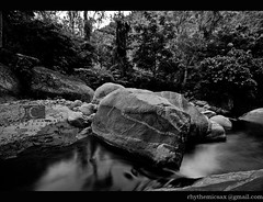 Exoloring Tamil nadu - Waterfalls 5 (lensbug.chandru) Tags: pictures b trees wild india white black green fall nature beautiful leaves rock stone forest trek canon river dark logo landscape photography grey landscapes waterfall big rocks asia slow mark room w tripod scenic picture kerala full explore filter ii waterfalls rush frame nd shutter 5d chubby exploration chennai dharma chandru tamil density nadu neutral unexplored monfrotto