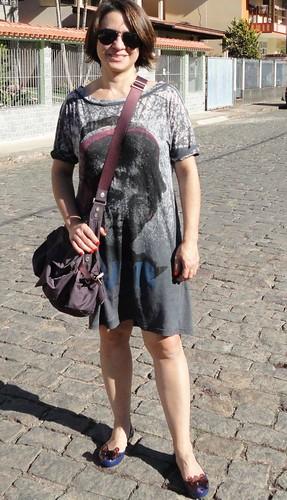 Vestido estampa vintage