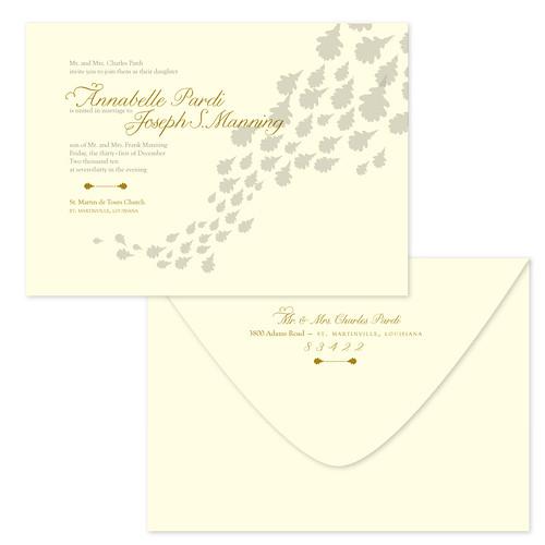 Oak Leaf Wedding Invitations