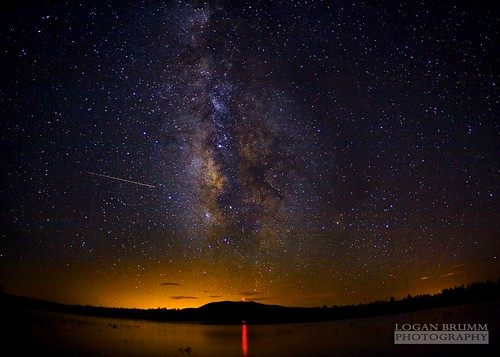 Milky Way over Lake Mary, Flagstaff - AZ - Perseids Meteor Shower