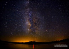 Milky Way over Lake Mary, Flagstaff - AZ - Perseids Meteor Shower (Logan Brumm Photography and Design) Tags: city arizona sky mars reflection phoenix night canon dark that stars shower star solar exposure university airplanes trails like bob right can astro we gas international nebula astrophotography flagstaff use shooting wish jupiter really now northern comet could meteor 2012 timed pretend leonid perseid paramore commets