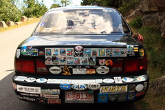 An awesome car (not ours). (Sticherbeast) Tags: maine newengland bumpersticker dungeonsdragons 28135is acadianationalpark smithcollege 450d canonrebelxsi