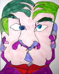 Double Blind Study: 2007.06.02 (Julia L. Kay) Tags: sanfrancisco pink red portrait selfportrait green art face pen self sketch san francisco artist arte purple julia blind kunst magic autoretrato kay felt daily brush lips dessin peinture portraiture marker 365 everyday dibujo dpp contour artista artiste lefthanded magicmarker knstler countour ambidextrous righthanded tombow feltmarker wronghanded brushmarker juliakay penwa julialkay otherhanded dailyportraitproject