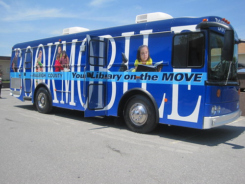 A new bookmobile, funded through the American Recovery and Reinvestment Act.