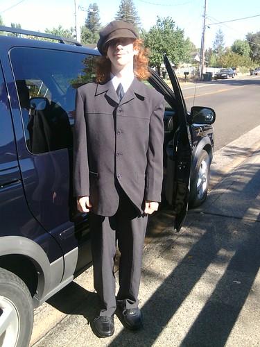 Boy Monkey likes dressing up.