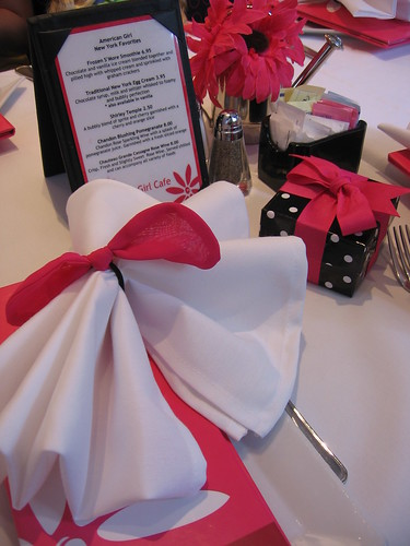 The beautiful place setting at AG Cafe
