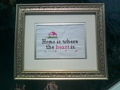 homo is where the heart is. (maggie fbk) Tags: cross stitch subversive subversivecrossstitch